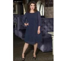Красивое синее платье ТОП002-PL4-336-71