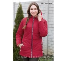 Красная женская куртка на молнии ТОП02-PK1-343