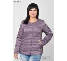 Серая женская куртка короткая ТОП023-PK1-370