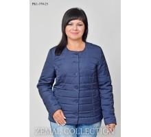 Синяя женская куртка с пуговицами ТОП021-PK1-370