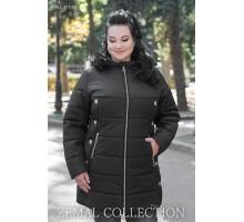 Черная куртка с кнопками ТОП012-PK1-371