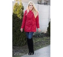 Красная женская куртка ТОП06-PK1-347