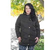 Черная женская куртка с кнопками ТОП09-PK1-347
