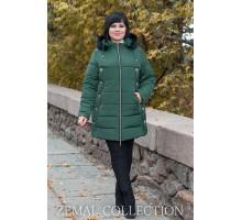 Зеленая куртка с капюшоном ТОП016-PK1-371