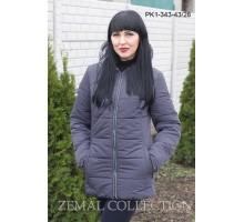 Серая женская куртка с карманами ТОП04-PK1-343