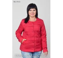 Красная женская куртка короткая ТОП022-PK1-370