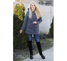 Серая молодежная женская куртка ТОП08-PK1-347