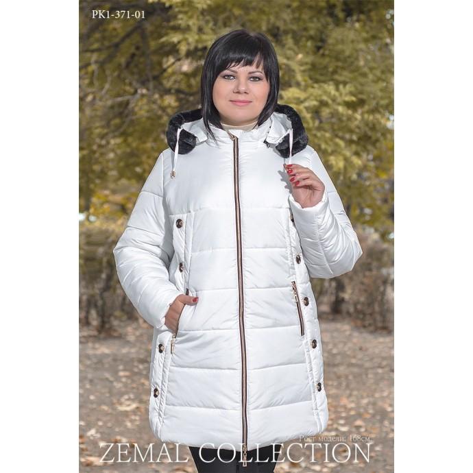 Белая куртка с капюшоном ТОП015-PK1-371