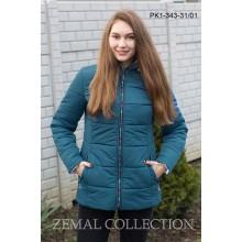 Бирюзовая женская куртка на молнии ТОП03-PK1-343