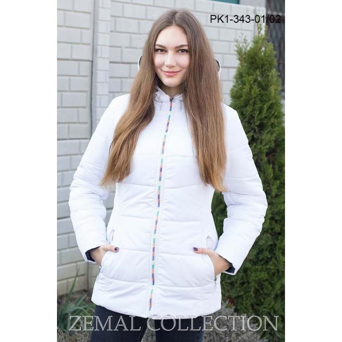 Белая женская куртка ТОП01-PK1-343