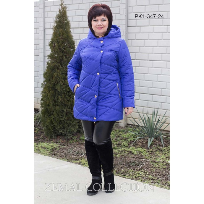 Женская куртка цвета электрик ТОП011-PK1-347