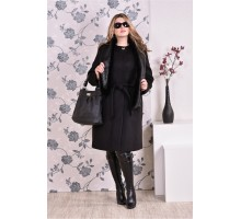 Пальто чёрное (разные версии) ККК991-0151