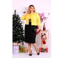 Красивый желтый костюм платье и накидка ККК1141-0653-3
