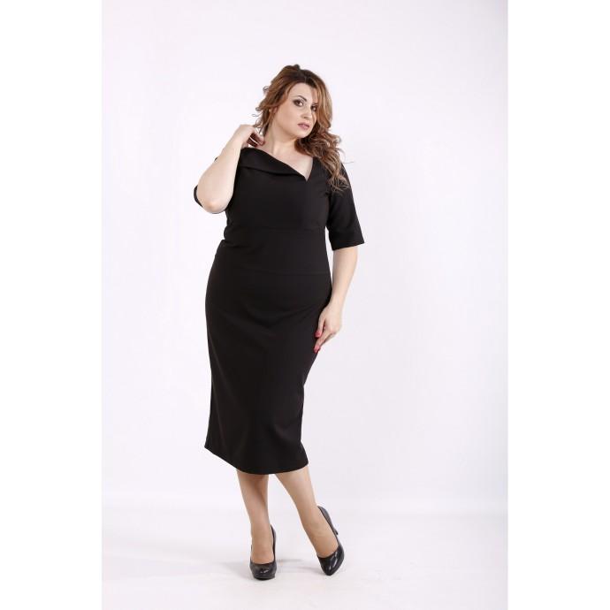 Черное элегантное платье ККК6669-01248-1