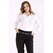 Белая классическая блузка ККК66610-01247-1