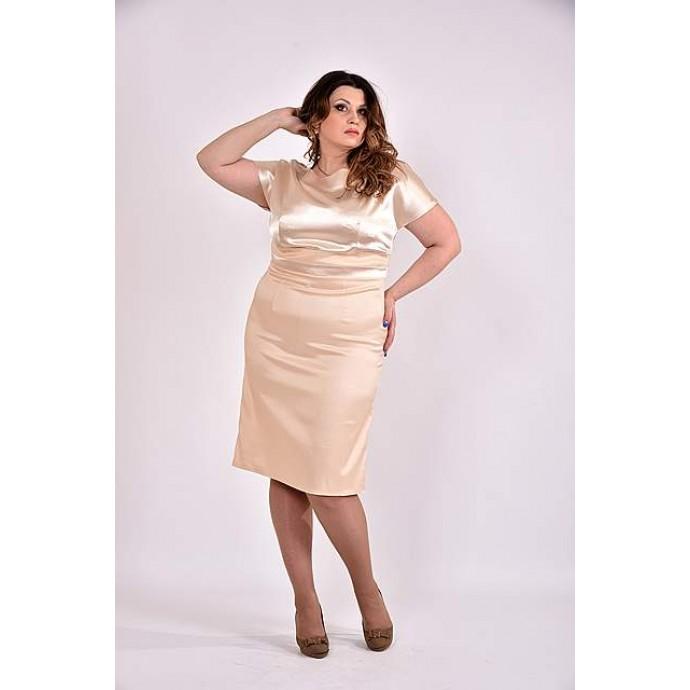 Платье 42-74 размер ККК353-0479-1 молоко