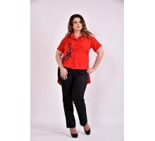 Красная блузка с апликацией 42-74 размер ККК348-0480-3