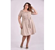Бежевое платье 42-74 размер ККК346-0481-2