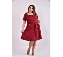 Бордовое платье 42-74 размер ККК345-0481-3