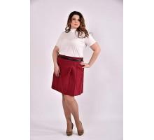 Бордовая юбка 42-74 размер ККК339-0483-3