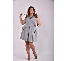 Серое платье 42-74 размер ККК337-0484-2