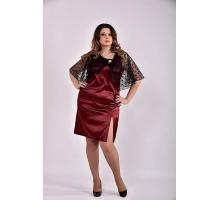Платье бордо 42-74 размер ККК334-0485-2