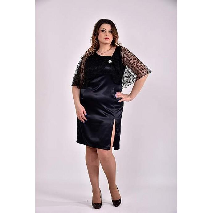 Черное платье 42-74 размер ККК333-0485-3