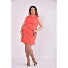 Коралловое платье 42-74 размер ККК332-0486-1