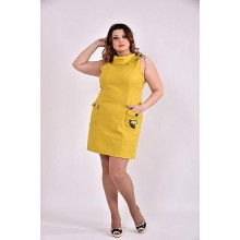 Платье 42-74 размер ККК331-0486-2 горчица