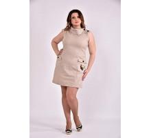 Бежевое платье 42-74 размер ККК330-0486-3
