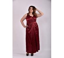 Платье бордо 42-74 размер ККК326-0488-1
