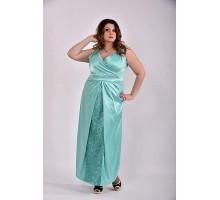 Платье бирюза 42-74 размер ККК324-0488-3