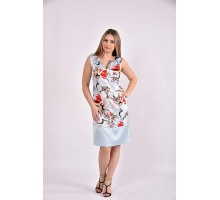 Платье принт голубой 42-74 размер ККК319-0491-2