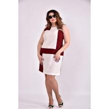 Платье бордо 42-74 размер ККК314-0493-1