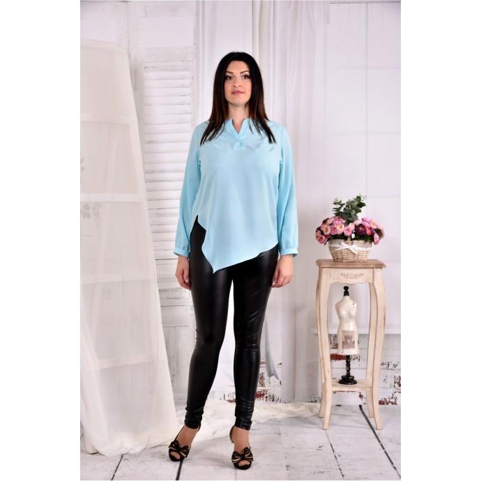 Голубая нарядная блузка ККК250-0580-2