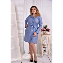 Платье-рубашка с поясом ККК252-0579-3