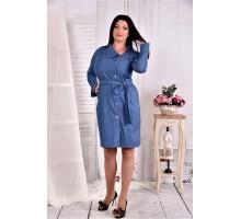 Платье-рубашка голубая волна ККК254-0579-1