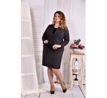Темно-серый офисный костюм ККК257-0578-1