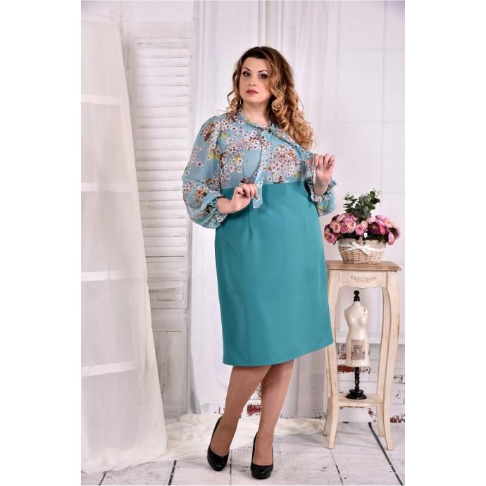 Бирюзовое платье ККК247-0581-3