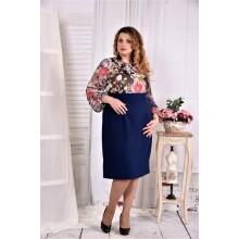 Платье с шифоном ККК247-0581-2