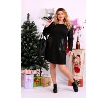 Черное платье с карманами ККК1115-0663-1