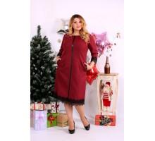 Бордовое платье ККК1132-0656-3
