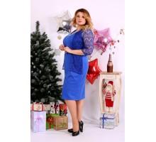 Яркое платье электрик ККК1139-0654-2