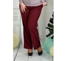 Бордовые брюки 42-74 размер ККК74-019-2