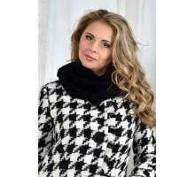 Черный шарф ККК72-001-1