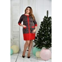 Красное платье ККК765-0370-2