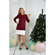 Бордо платье ККК761-0371-3