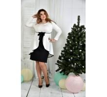Молочное платье ККК748-0377-1