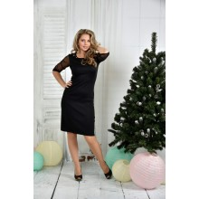 Черное платье 42-74 размер ККК733-0384-2