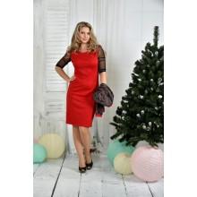 Красное платье 42-74 размер ККК732-0384-3